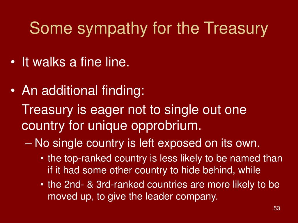 Some sympathy for the Treasury