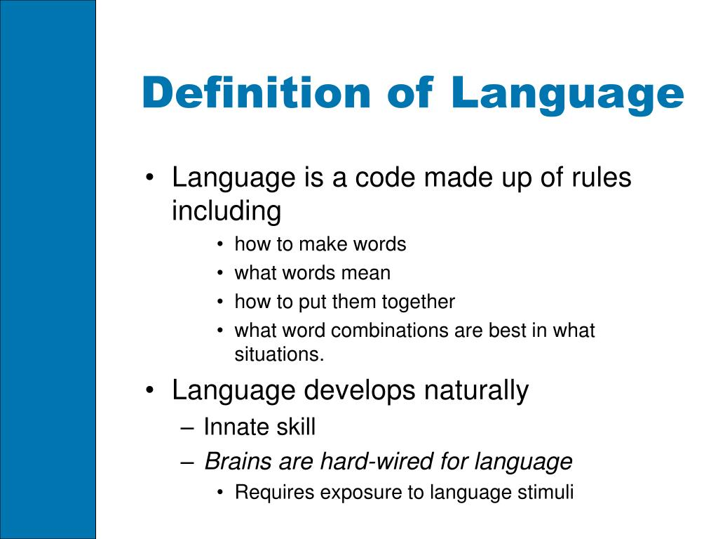 Definition of Language