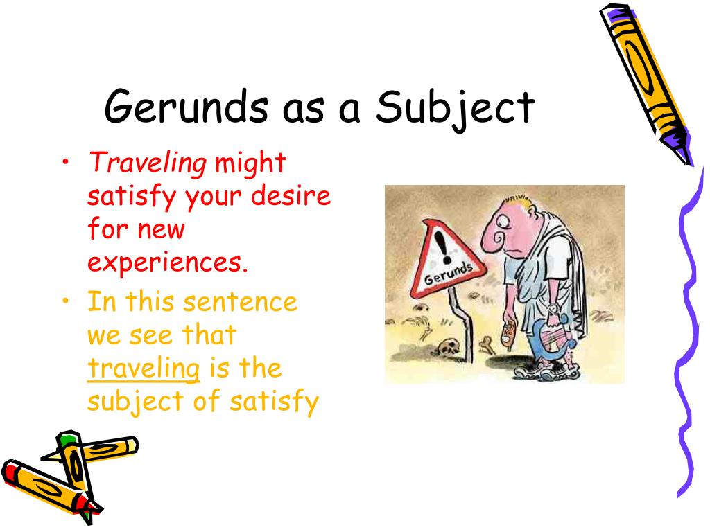 Gerunds as a Subject