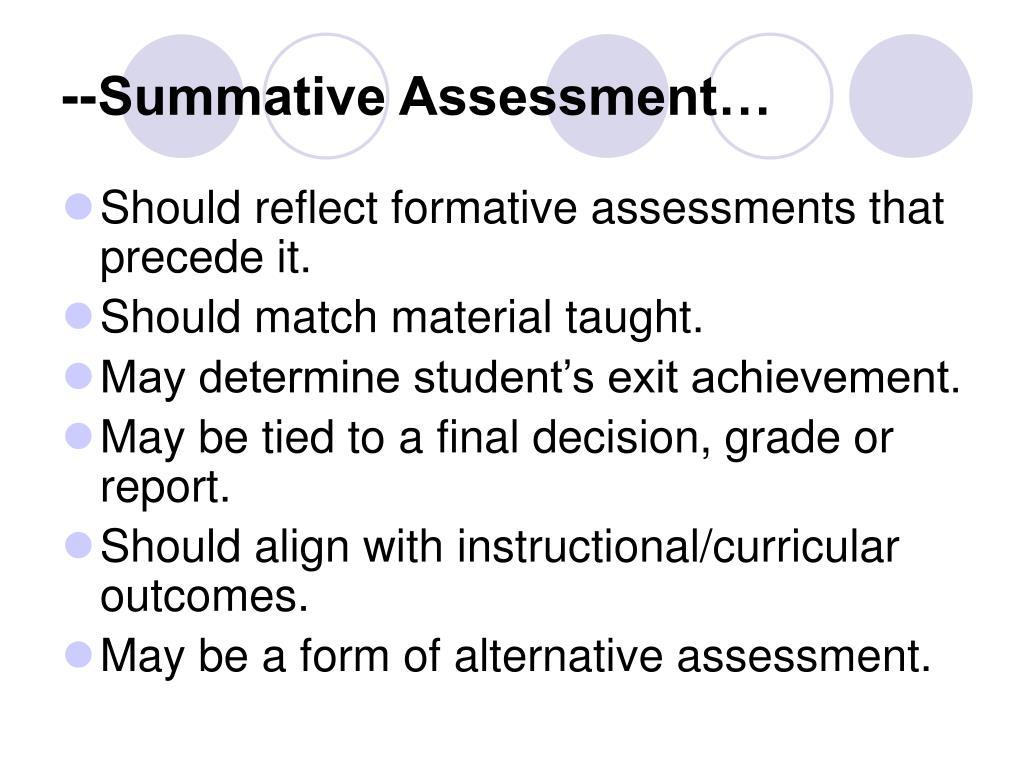 --Summative Assessment…