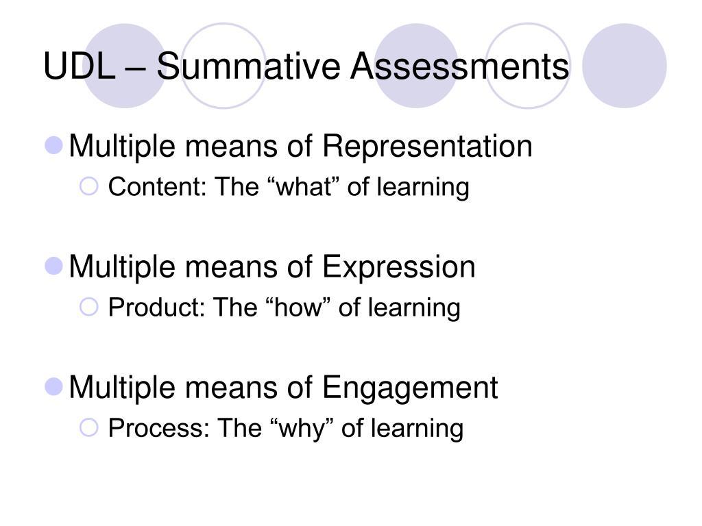 UDL – Summative Assessments