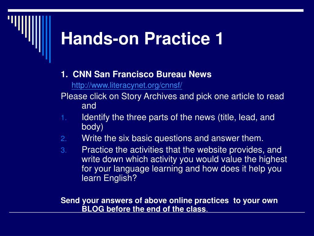Hands-on Practice 1