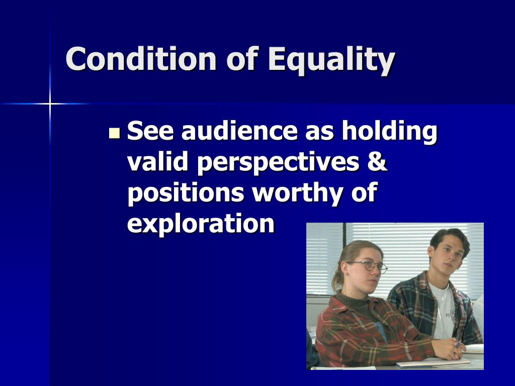 Condition of Equality