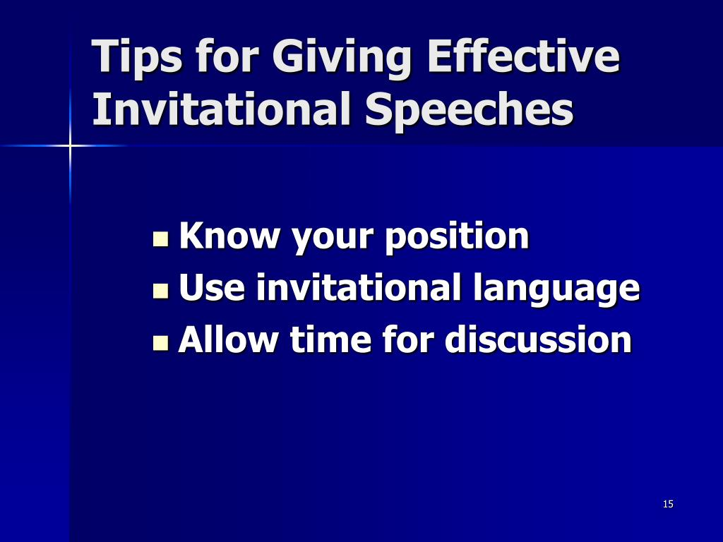 Tips for Giving Effective