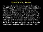 model for mars surface15