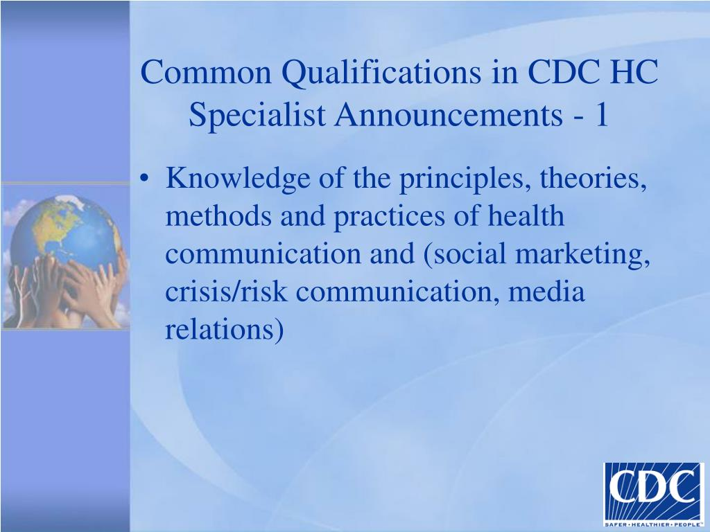 Common Qualifications in CDC HC Specialist Announcements - 1