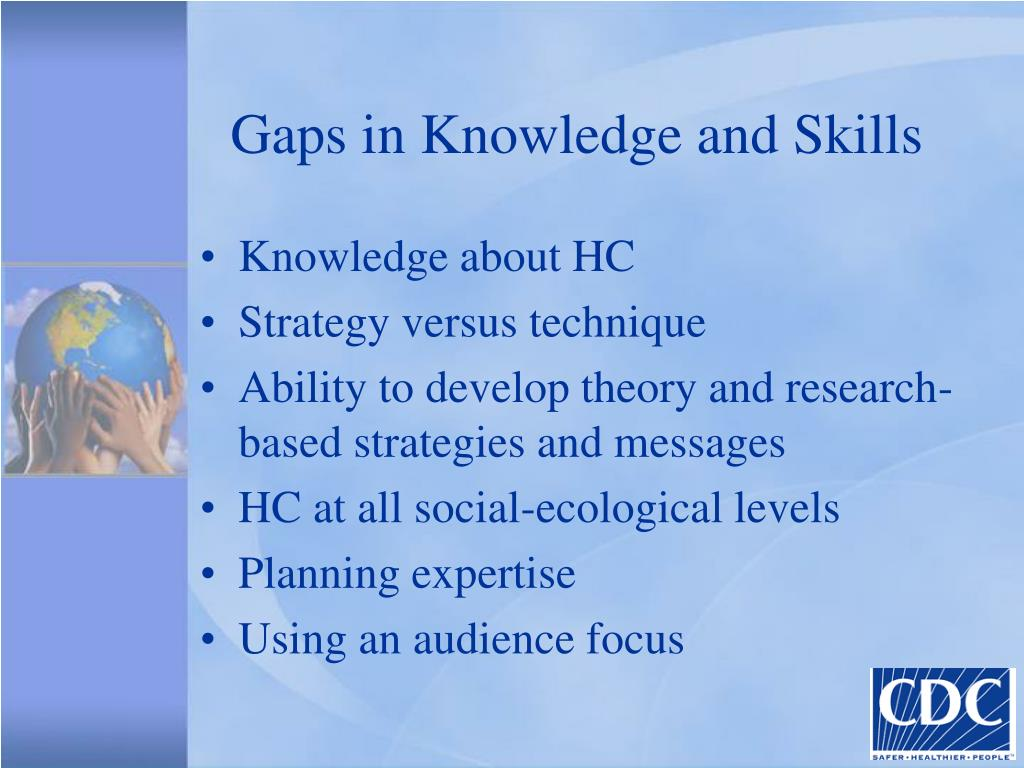 Gaps in Knowledge and Skills