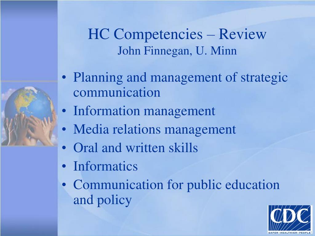 HC Competencies – Review