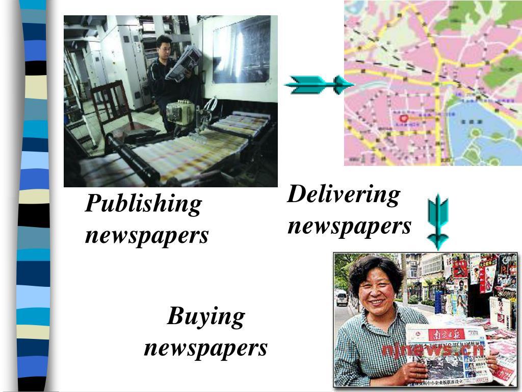 Delivering newspapers