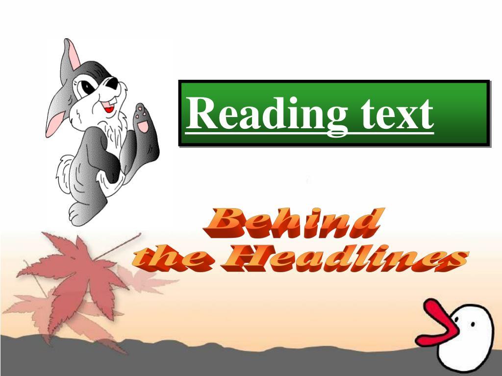 Reading text