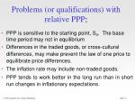 problems or qualifications with relative ppp