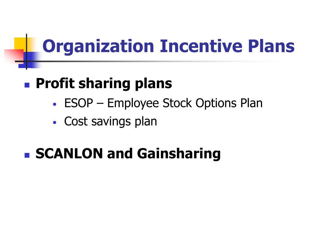Organization Incentive Plans