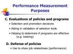 performance measurement purposes28
