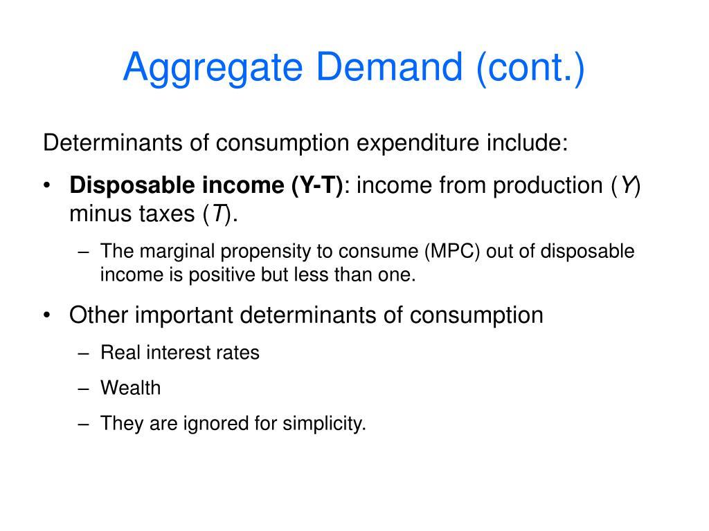 Aggregate Demand (cont.)