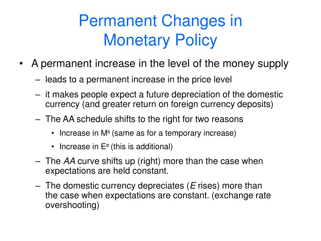 Permanent Changes in