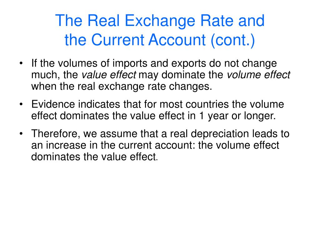 The Real Exchange Rate and