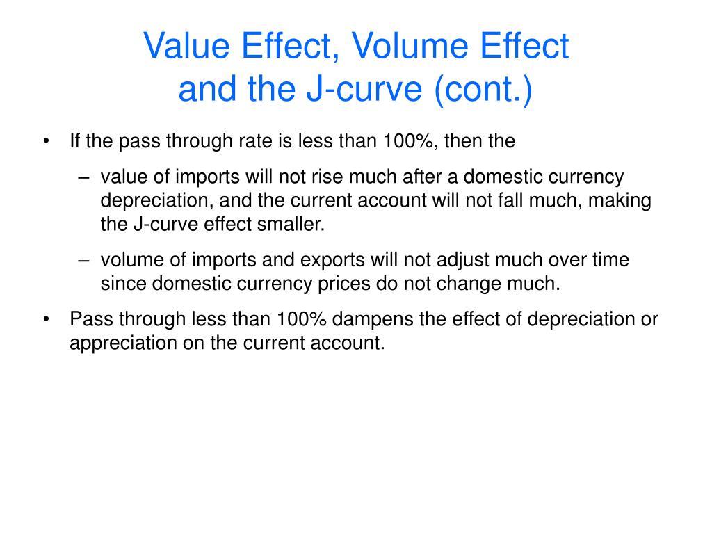 Value Effect, Volume Effect