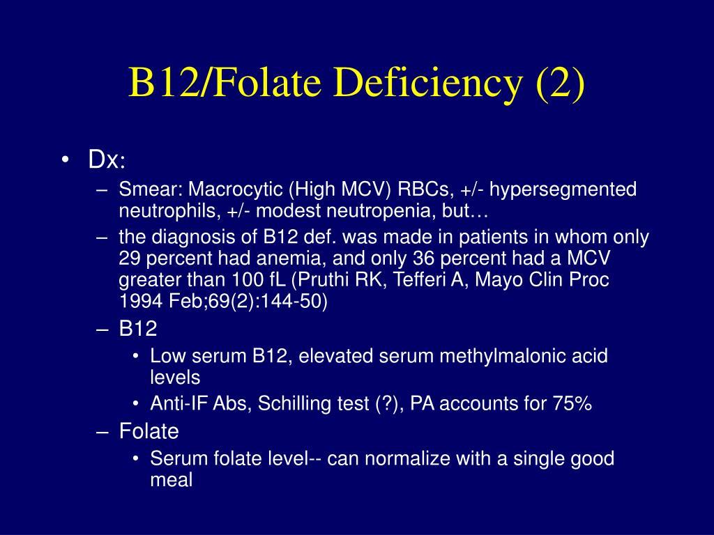 B12/Folate Deficiency (2)