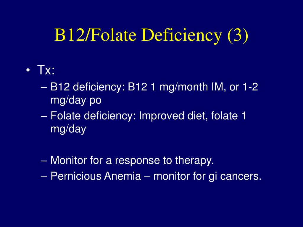 B12/Folate Deficiency (3)