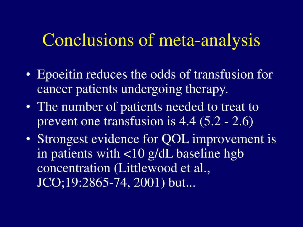 Conclusions of meta-analysis
