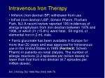intravenous iron therapy