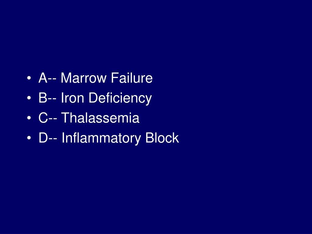 A-- Marrow Failure