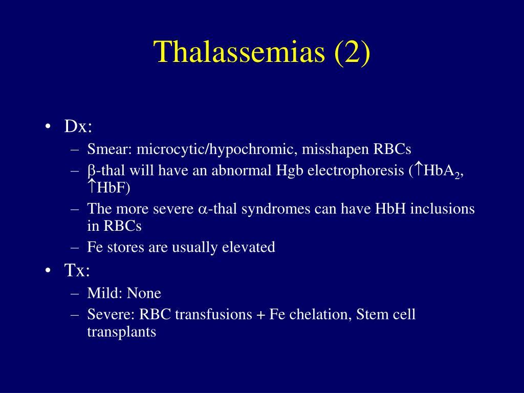 Thalassemias (2)