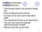 additional information attachments cont