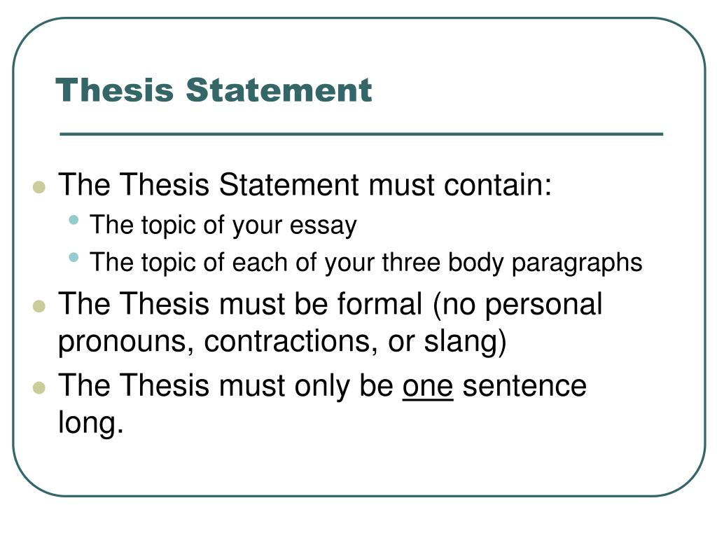 thesis statement in everyday use