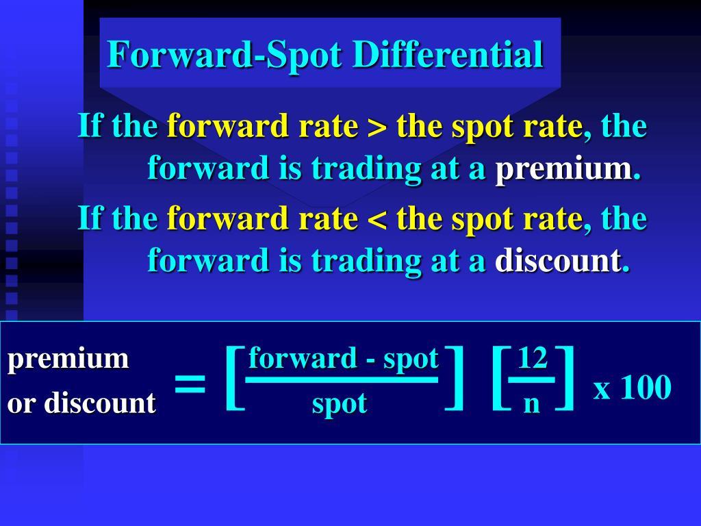 Forward-Spot Differential