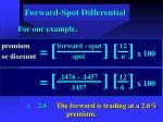 forward spot differential35