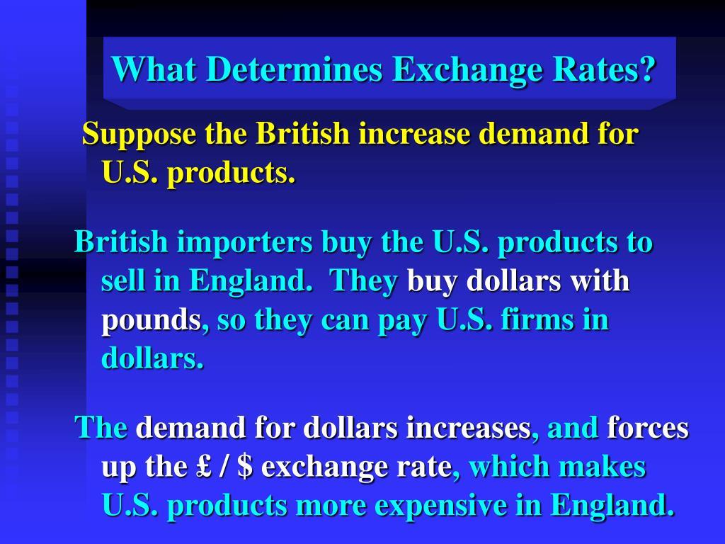 What Determines Exchange Rates?
