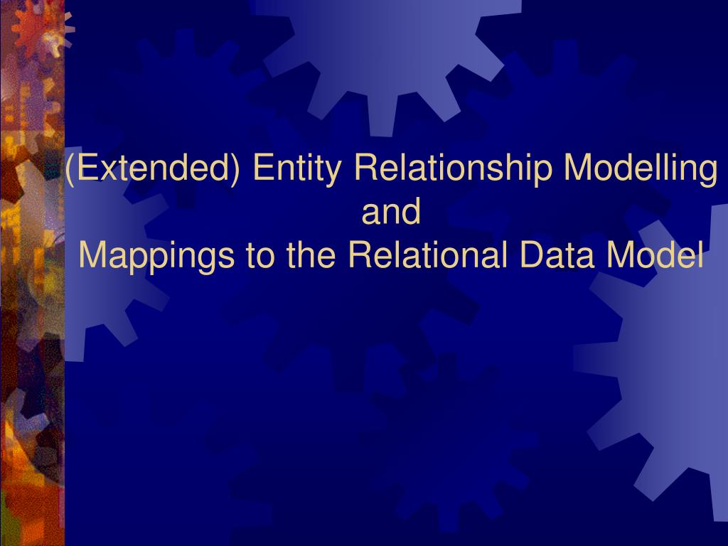 (Extended) Entity Relationship Modelling