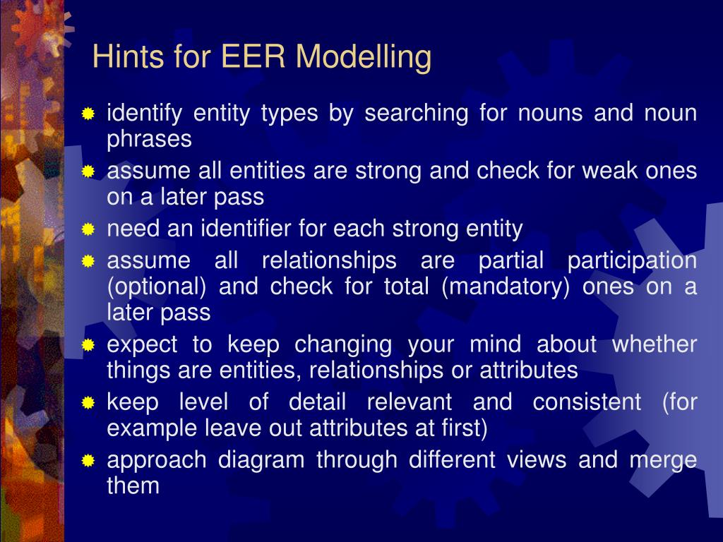 Hints for EER Modelling