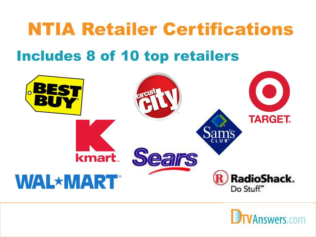 NTIA Retailer Certifications