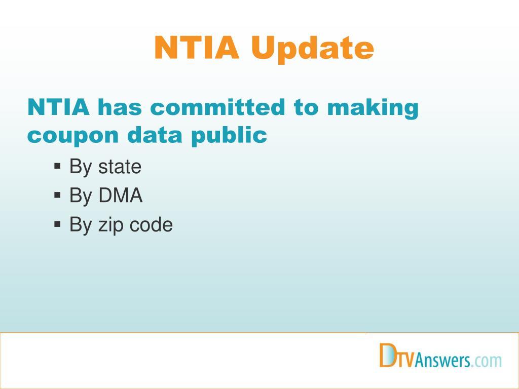 NTIA Update
