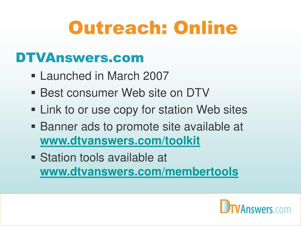 Outreach: Online