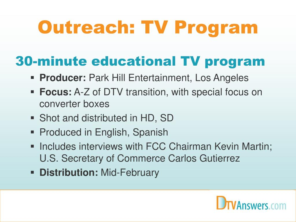 Outreach: TV Program
