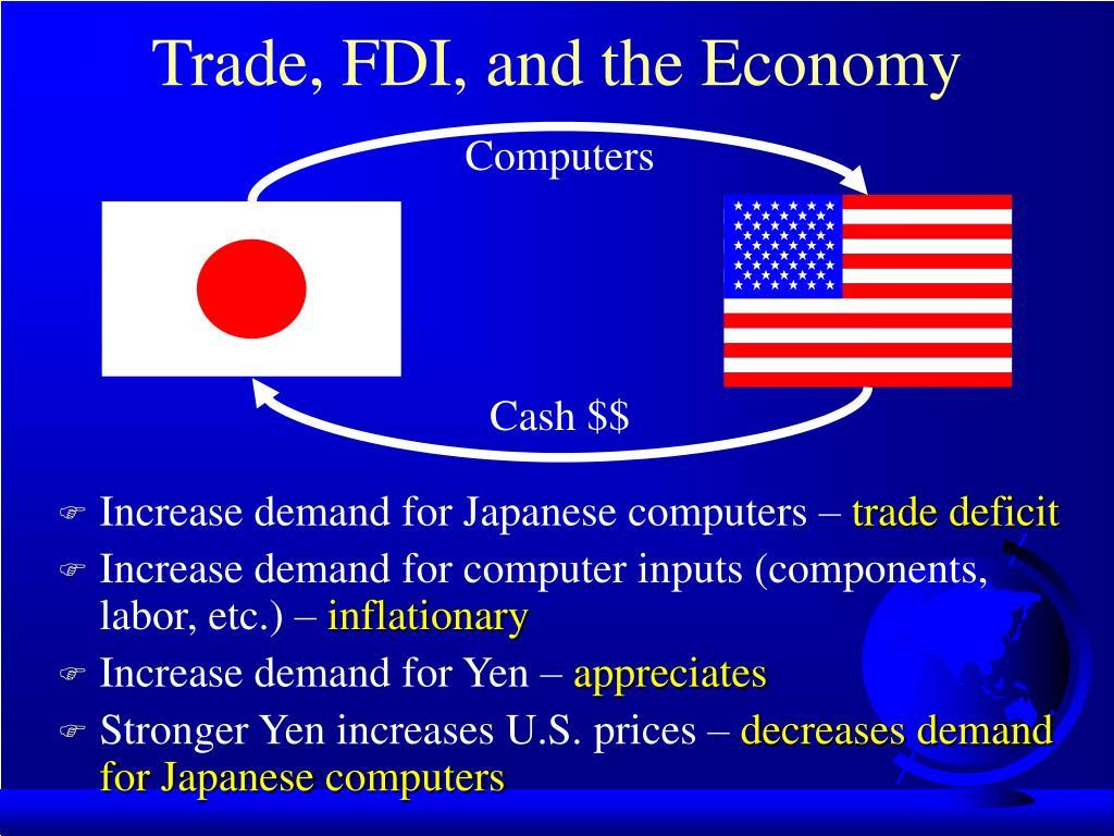 Trade, FDI, and the Economy