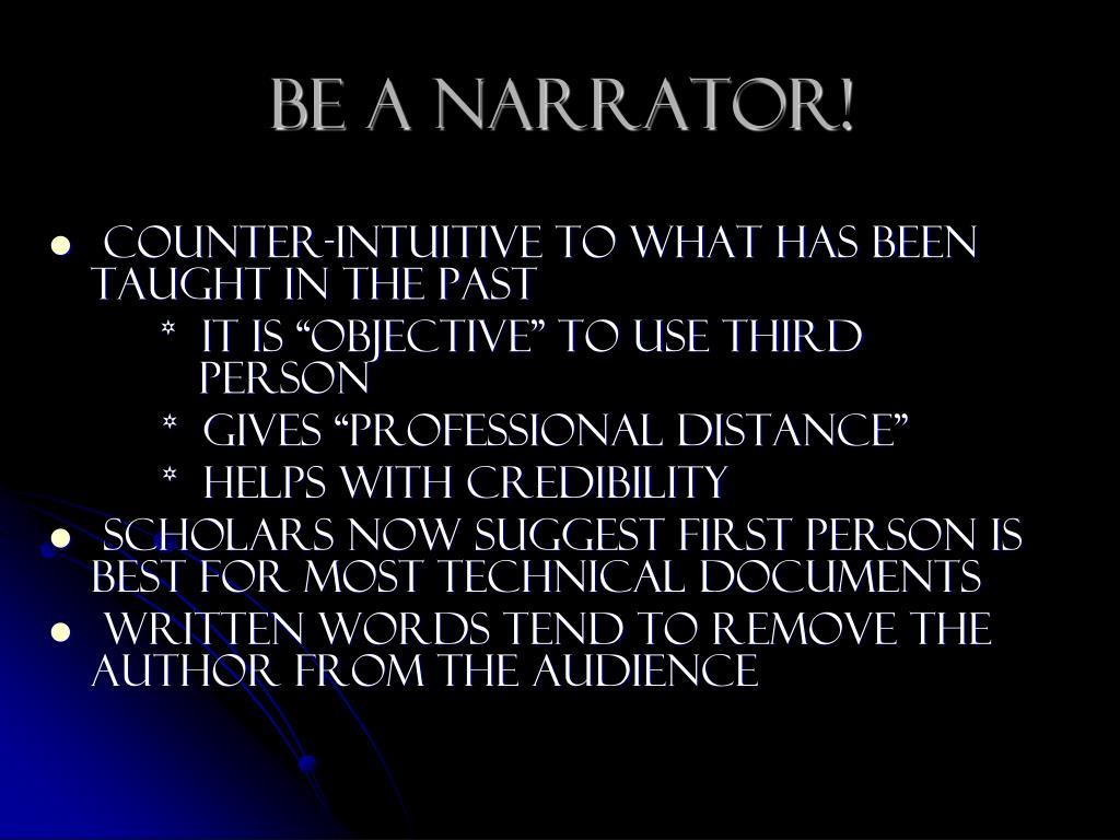 Be A Narrator!