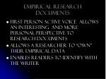 empirical research documents
