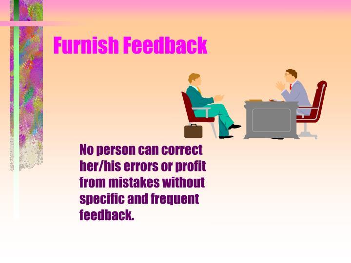 Furnish Feedback