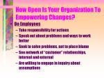 how open is your organization to empowering changes2