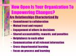 how open is your organization to empowering changes3