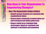 how open is your organization to empowering changes4