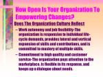 how open is your organization to empowering changes5