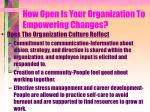 how open is your organization to empowering changes6