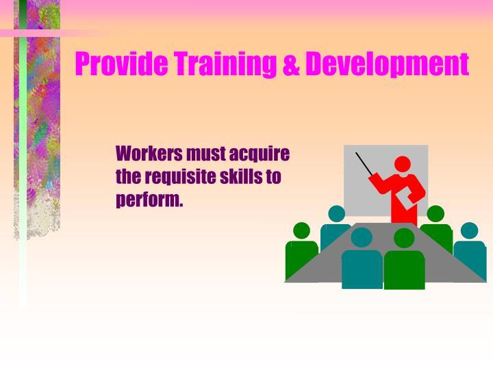 Provide Training & Development