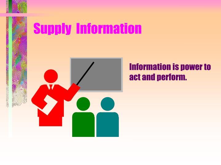 Supply  Information