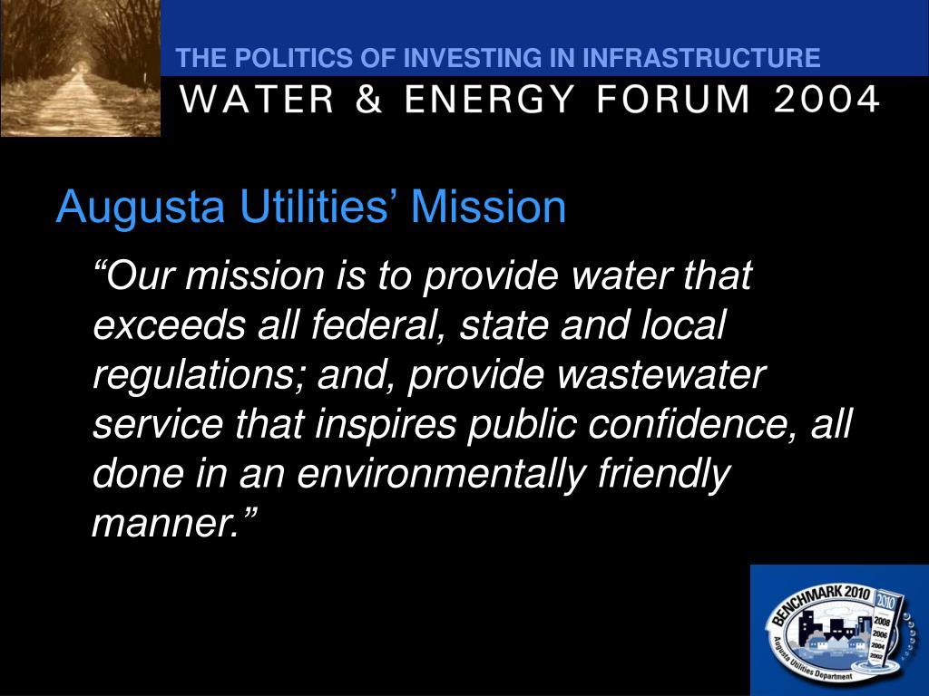 Augusta Utilities' Mission